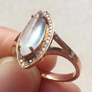 淡雅芬芳天然缅甸A货翡翠老坑冰种镶嵌戒指挂件