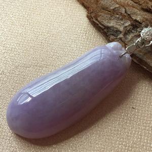 琴声悠悠天然缅甸A货翡翠老坑糯种紫罗兰福瓜挂件