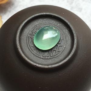 冰种晴水天然缅甸翡翠A货老坑蛋面戒面裸石