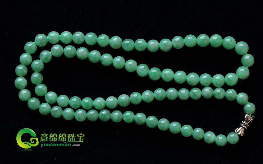 男士翡翠项链 深邃奢华更显优雅的品味 珠圆玉润带来保健效果